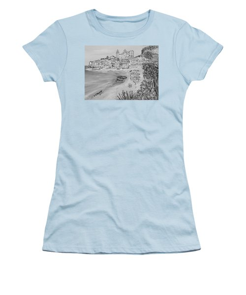 Women's T-Shirt (Junior Cut) featuring the painting Memorie D'estate by Loredana Messina