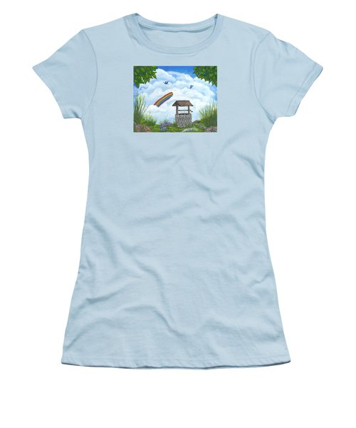 Women's T-Shirt (Junior Cut) featuring the painting My Wishing Place by Sheri Keith