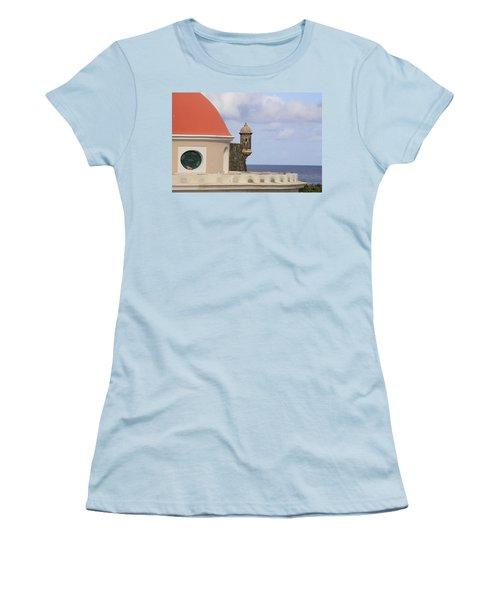 Viejo San Juan Women's T-Shirt (Junior Cut) by Daniel Sheldon