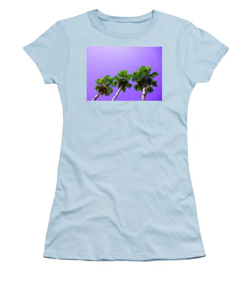 Women's T-Shirt (Junior Cut) featuring the photograph 3 Palms by J Anthony