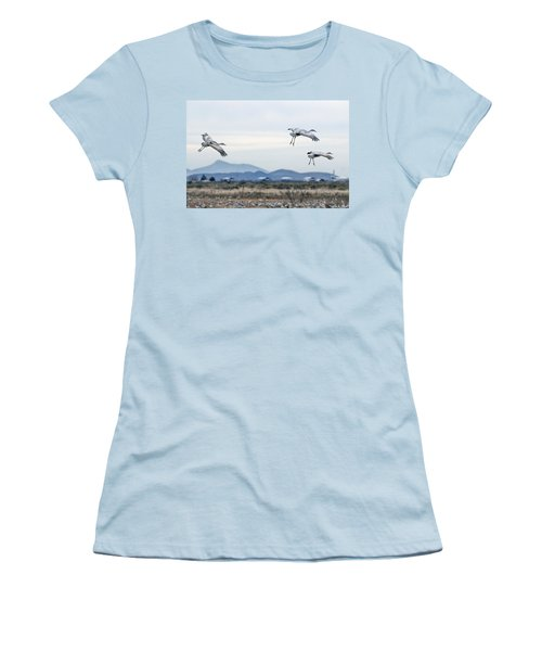 Sandhill Cranes Women's T-Shirt (Athletic Fit)