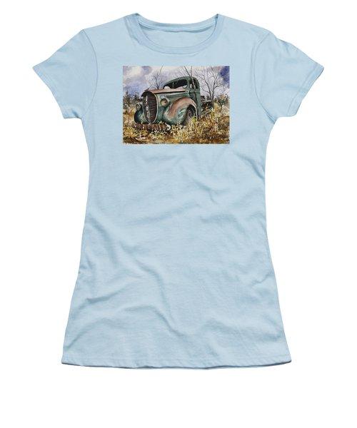 39 Ford Truck Women's T-Shirt (Junior Cut) by Sam Sidders