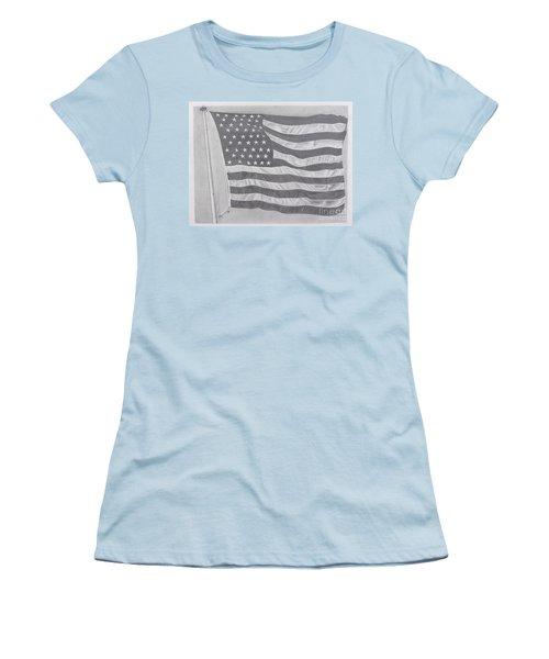 50 Stars 13 Stripes Women's T-Shirt (Junior Cut) by Wil Golden