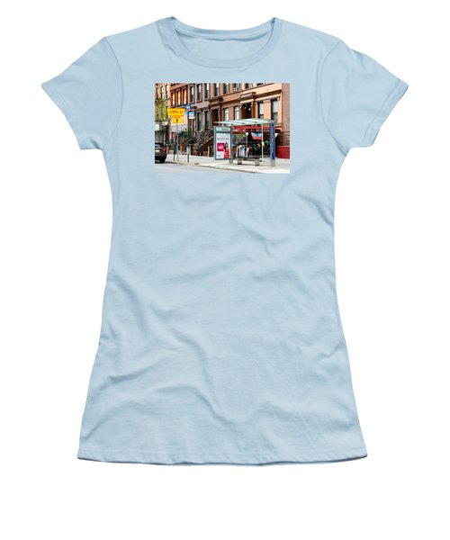 5th Ave And West 132nd Street Women's T-Shirt (Junior Cut)