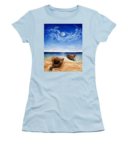 Women's T-Shirt (Junior Cut) featuring the painting Home by Emery Franklin