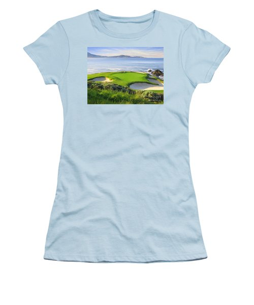 7th Hole At Pebble Beach Women's T-Shirt (Athletic Fit)