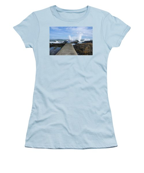 A Blustery Day At High Rock Women's T-Shirt (Athletic Fit)