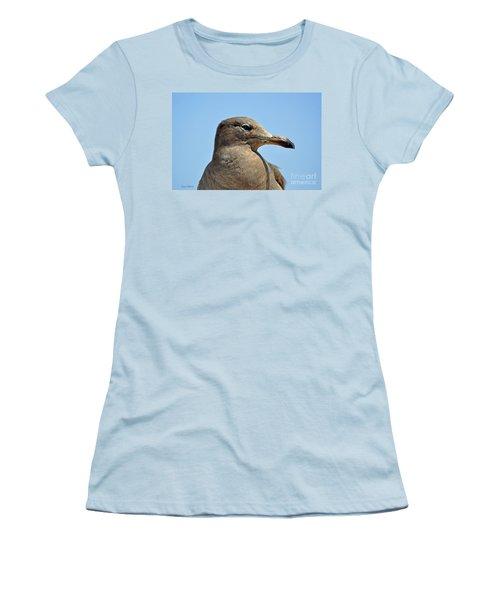 A Brown Gull In Profile Women's T-Shirt (Junior Cut) by Susan Wiedmann