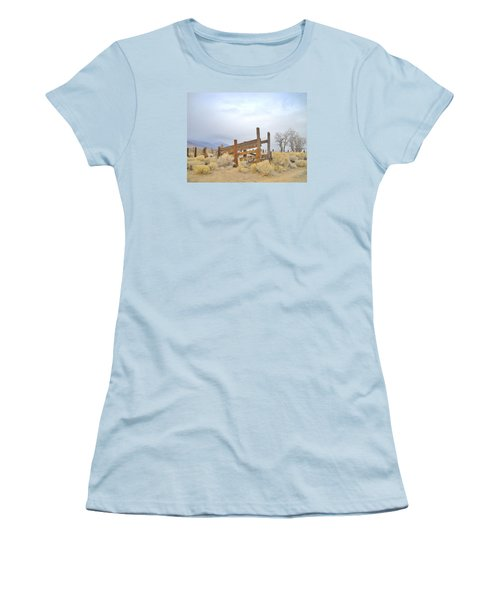 A Cowboys Echo Women's T-Shirt (Junior Cut) by Marilyn Diaz