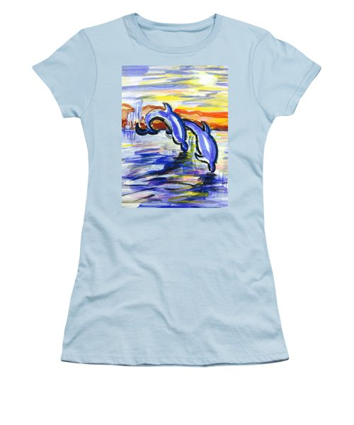 A Day At The Beach 4 Women's T-Shirt (Athletic Fit)