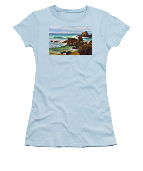 Women's T-Shirt (Junior Cut) featuring the painting A Frouxeira Galicia by Pablo Avanzini