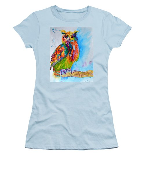 A Hootiful Moment In Time Women's T-Shirt (Junior Cut) by Beverley Harper Tinsley