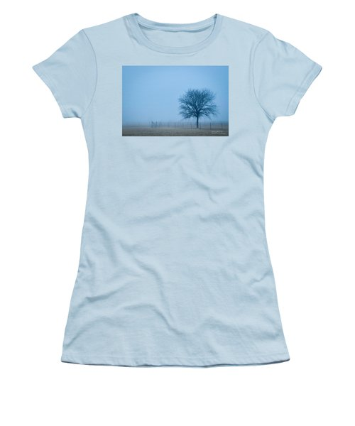 A Lone Tree In The Fog Women's T-Shirt (Athletic Fit)
