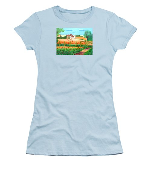 A Poppy Field Women's T-Shirt (Athletic Fit)