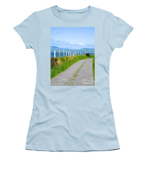 Women's T-Shirt (Junior Cut) featuring the photograph A Road To Waterville by Suzanne Oesterling