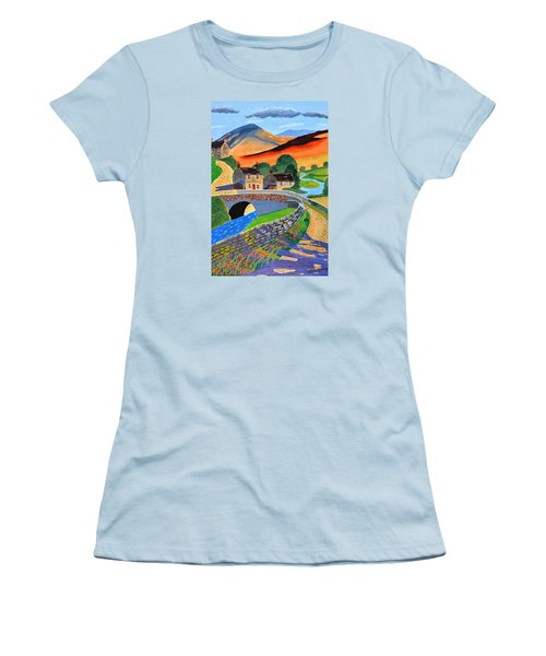 a Scottish highland lane Women's T-Shirt (Junior Cut) by Magdalena Frohnsdorff