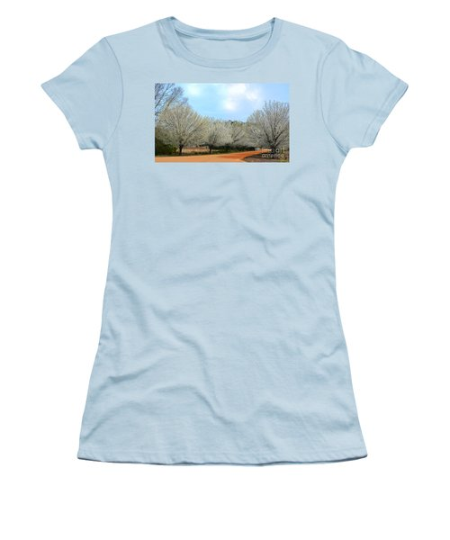 Women's T-Shirt (Junior Cut) featuring the photograph A Touch Of Spring by Kathy Baccari