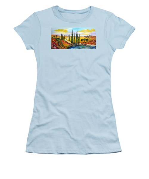 A Warm Day Under The Tuscan Sun Women's T-Shirt (Athletic Fit)