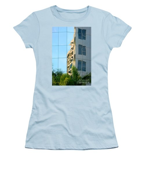 Abstract Architectural Shapes Women's T-Shirt (Athletic Fit)
