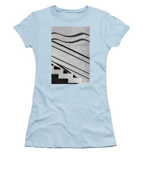 Abstract Stairs Women's T-Shirt (Athletic Fit)