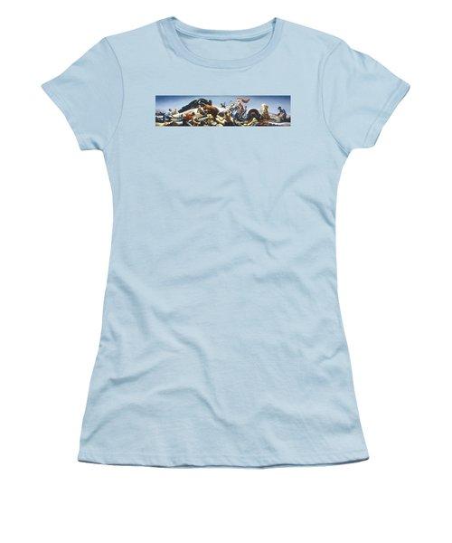 Achelous And Hercules Women's T-Shirt (Junior Cut) by Thomas Benton