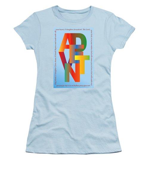 Advent Women's T-Shirt (Junior Cut) by Chuck Mountain