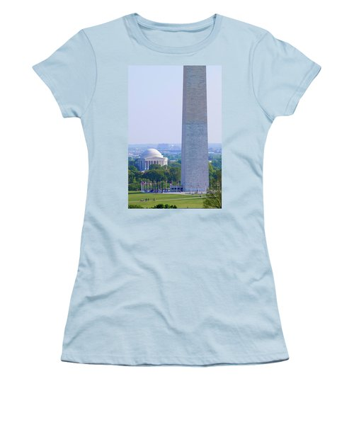 Aerial View Of Washington Monument Women's T-Shirt (Athletic Fit)