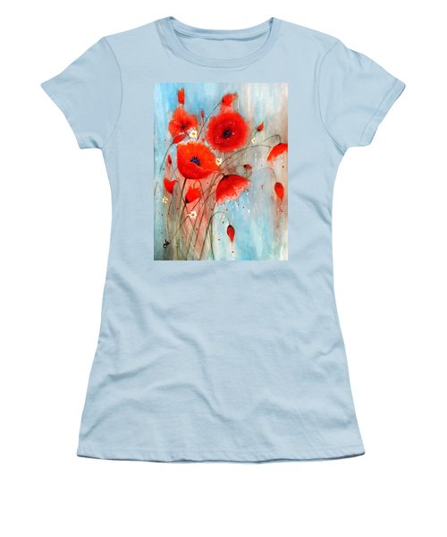 Women's T-Shirt (Junior Cut) featuring the painting After The Rain.. by Cristina Mihailescu