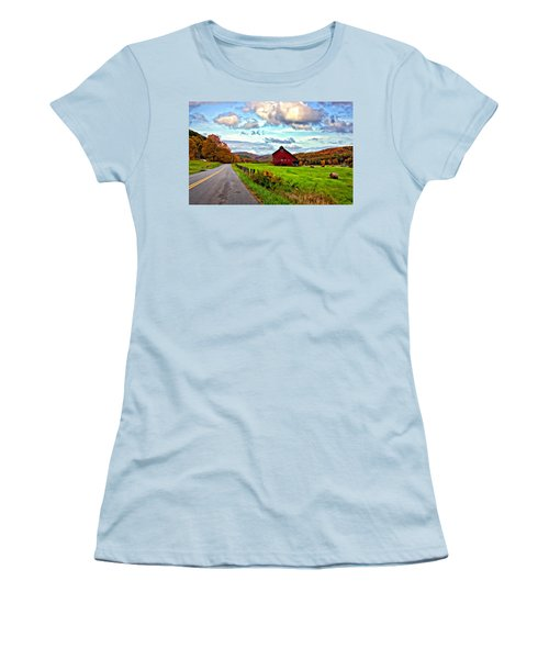 Ah...west Virginia Painted Women's T-Shirt (Athletic Fit)
