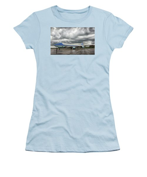 Air Force One Women's T-Shirt (Junior Cut) by Mountain Dreams