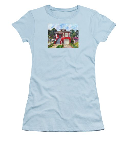 Colonial Revival High Basement Cottage 1907  Women's T-Shirt (Junior Cut) by Linda Weinstock