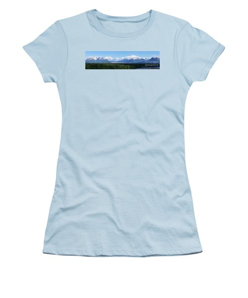 Alaskan Denali Mountain Range Women's T-Shirt (Athletic Fit)