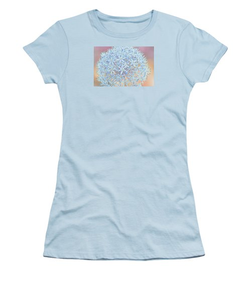 Women's T-Shirt (Junior Cut) featuring the digital art Allium Bursting by Susan  McMenamin