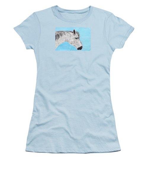 Alvaro Stallion Women's T-Shirt (Junior Cut) by Jeanne Fischer