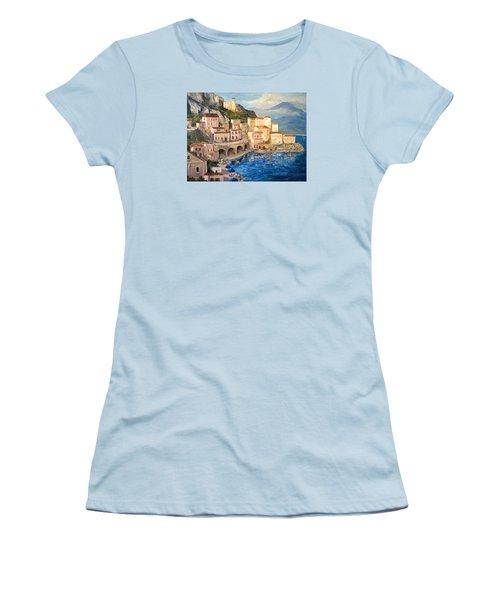 Amalfi Coast Highway Women's T-Shirt (Junior Cut) by Alan Lakin