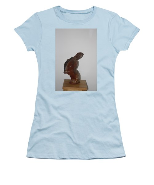 Women's T-Shirt (Junior Cut) featuring the sculpture American Athlete...inspiration Gail Devers by Gloria Ssali
