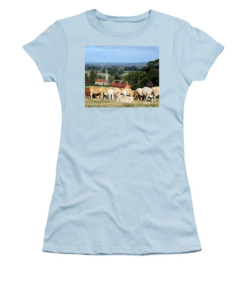 An English Summer Landscape Women's T-Shirt (Junior Cut) by Linsey Williams