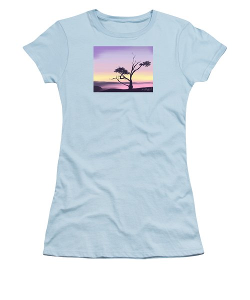 Women's T-Shirt (Junior Cut) featuring the digital art Anacortes by Terry Frederick