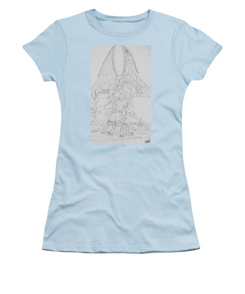 Angel Of God Struggle Women's T-Shirt (Junior Cut) by Roberta Byram
