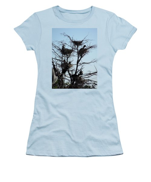 Apartment Building With One Vacancy Women's T-Shirt (Junior Cut) by Ron Davidson
