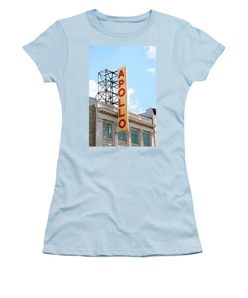 Apollo Theater Sign Women's T-Shirt (Junior Cut) by Valentino Visentini