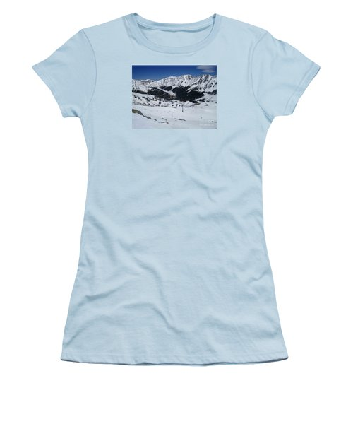 Arapahoe Basin June 2  Women's T-Shirt (Junior Cut) by Fiona Kennard