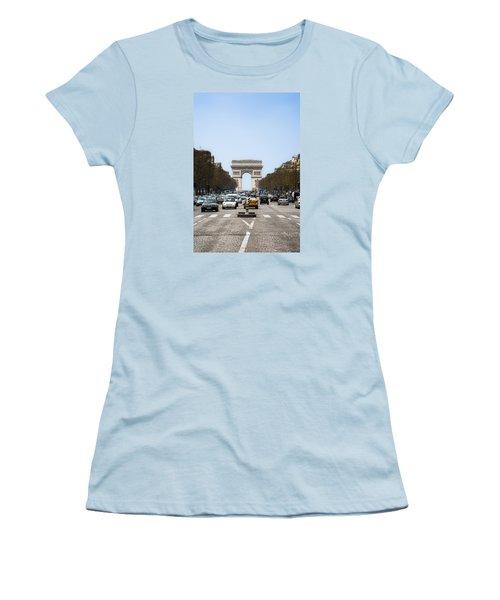 Arch Of Triumph In Paris Women's T-Shirt (Athletic Fit)