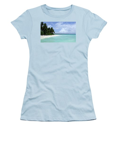Women's T-Shirt (Junior Cut) featuring the photograph Arno Island by Andrea Anderegg