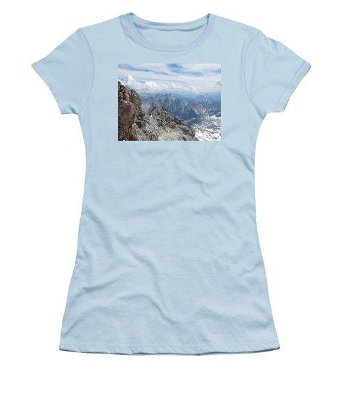 Women's T-Shirt (Junior Cut) featuring the photograph As The Crow Flies by Pema Hou