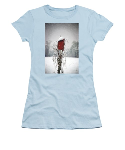 At Home In The Snow Women's T-Shirt (Junior Cut) by Beverly Stapleton