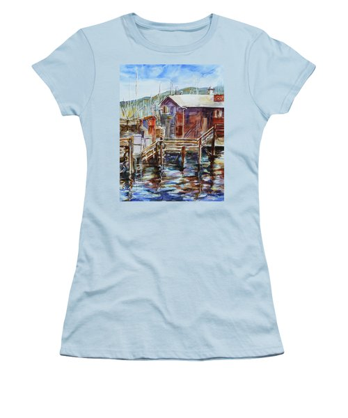 At Monterey Wharf Ca Women's T-Shirt (Athletic Fit)
