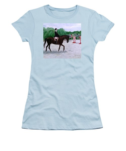At The June Fete Women's T-Shirt (Junior Cut) by Vickie G Buccini
