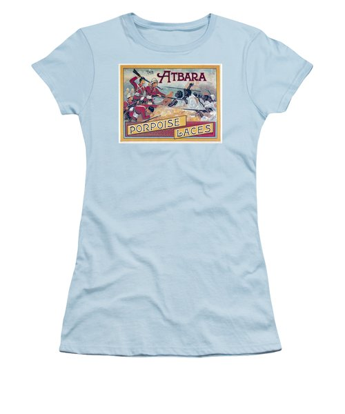 Women's T-Shirt (Junior Cut) featuring the photograph Atbara Porpoise Laces Vintage Ad by Gianfranco Weiss