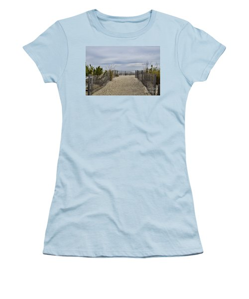Autumn At The Beach Women's T-Shirt (Athletic Fit)